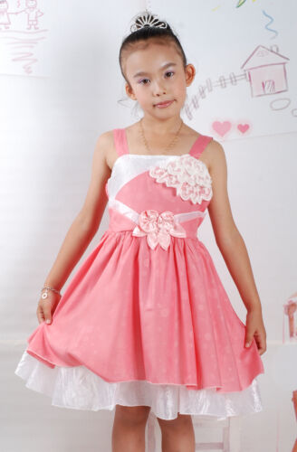 New Flower Girl Party Pageant Dress in Salmon Pink,Lilac in 2-3 3-4 4-5 Years