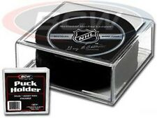 (12) BCW Hockey Puck Square Display Case Holders