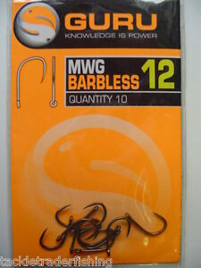 GURU-MWG-HOOKS-BARBLESS-IN-SIZES-10-TO-20-10-HOOKS-PER-PACK