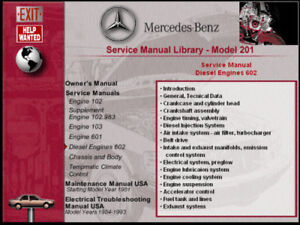 mercedes model 201 cd service manual 190e 190d 190e 16v cosworth all rh ebay com mercedes 190e service manual download 190e factory service manual