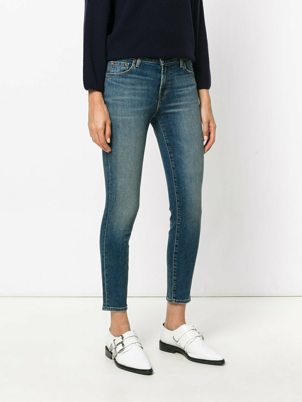 NWT J Brand 835 Capri Mid Rise Cropped Skinny Enchant Size 24,25,26