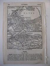 stampa antica OLD PRINT MAP MAPPA PIANTA LIBIA TRIPOLI TRIPOLIS COLONIA 1930
