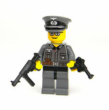 custom German WW2 Wehrmacht Officer made with real LEGO® minifigure