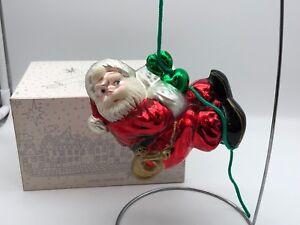 1 Pendentif Noël Ours Arbre Santa Claus Ornements Décoration 14.5x11.5cm
