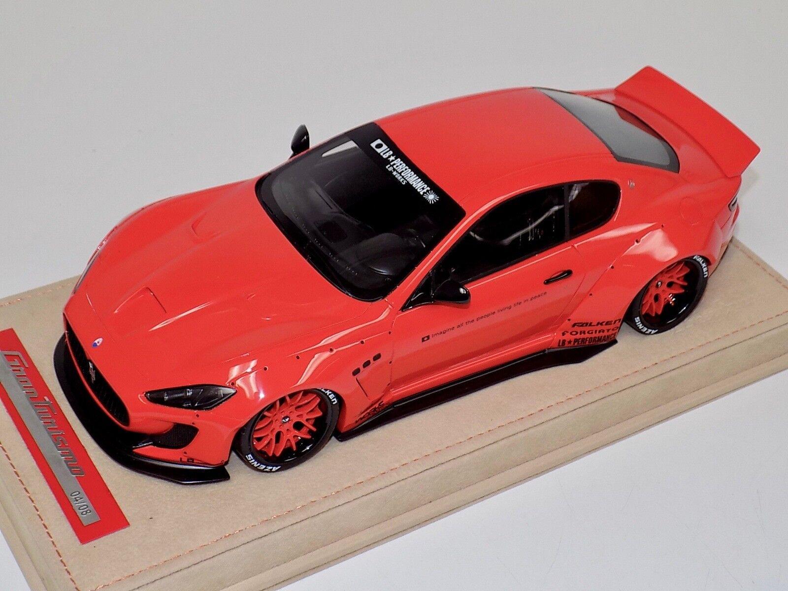 1/18 AB Models Maserati Granturismo Liberty walk Red Red Wheels Alcantara Base