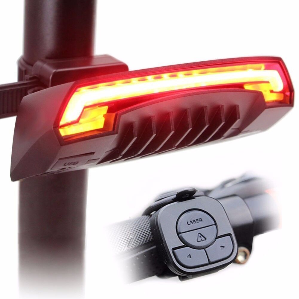 Bicycle Light Bike  Wireless Rear Remote Turn Signal Tail LED Laser Beam Safety  shop makes buying and selling