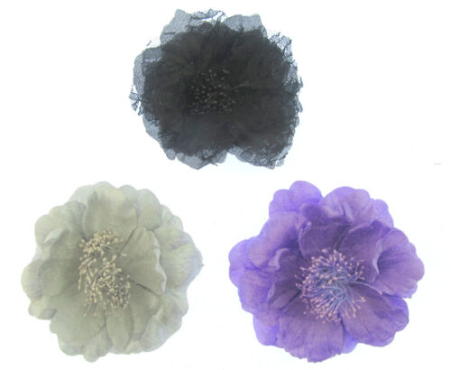 party large Hair flower clip with center stegments  12cm weddings