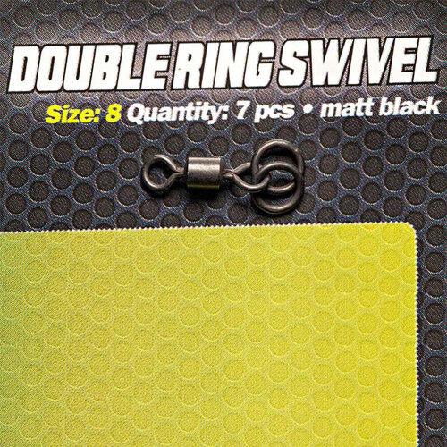 CARPLEADS Double Ring Swivel Gr Matt Black Wirbel 8-7 Stück
