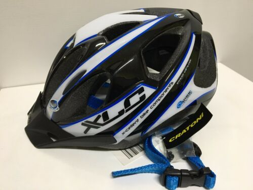 Casco Bici Bicicletta MTB XLC by ATALA SPORT YELLOWSTONE nero bianco blu
