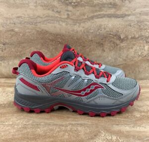 388dcc31e507 Image is loading Saucony-Womens-Excursion-TR11-Running-Shoe-Grey-Pink