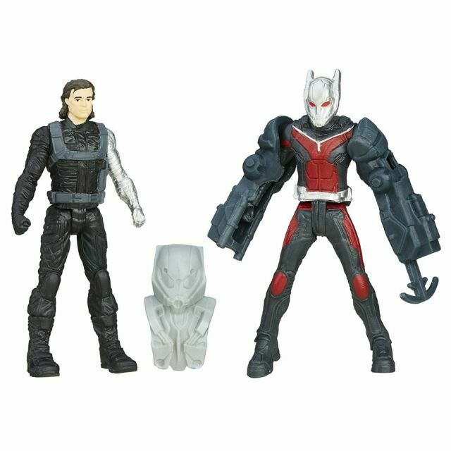 Captain America Civil War ANT Man /& Winter Soldier 2 1//2-inch Figure 2016 Hasbro for sale online