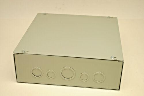 "12/"" X 12/"" X 4/"" Metal Screw Cover Junction Box NEMA-1 Indoor Enclosure W//K0/'s NIB"