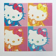 "Hello Kitty Warhol Sticker Decal  4"" - Licensed - New - Sanrio"