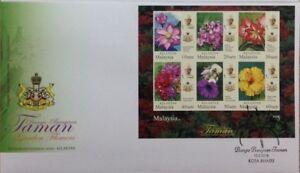 Malaysia FDC with Miniature Sheet (13.02.2018) - Kelantan Garden Flowers