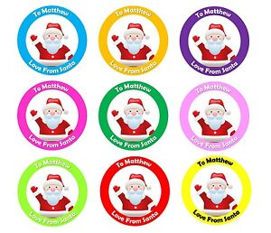 personalised christmas stickers from santa father christmas present