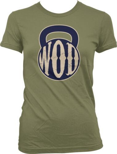 WOD Kettlebell Work Out Weight Lifting Exercise Lift Juniors T-shirt
