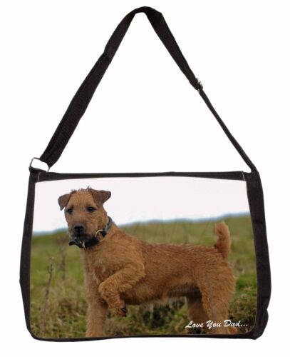 Lakeland Terrier 'Love You Dad' Large Black Laptop Shoulder Bag School, DAD73SB