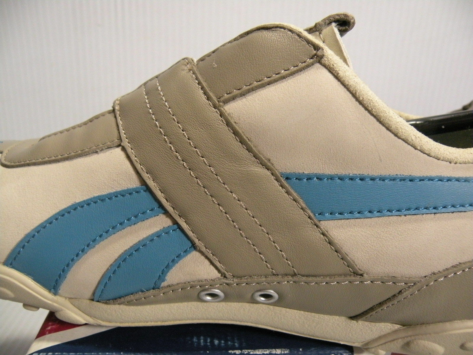 REEBOK CLASSIC MOTORING CLOSURE LO LO LO WOMEN SHOES KHAKI blueE 2-151174 SIZE 8.5 NEW 47c3cf
