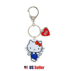 Image is loading Sanrio-Hello-Kitty-Locket-Keychain-KeyRing-Original-Hello- ad059f62e214