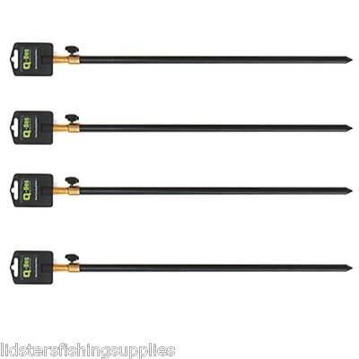 4 x Q DOS 30-50cm Standard Carp Coarse Ali aluminium BankSticks Bank Sticks
