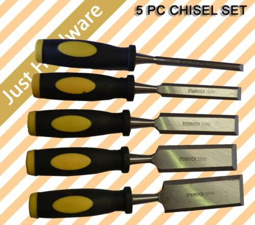 5 pcs Pc High Quality Wood Chisel Set 38mm 32mm 24mm 16mm 8mm New!