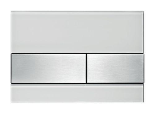 Tecesquare Vetro Placca di Comando Bianco Acciaio 9240801