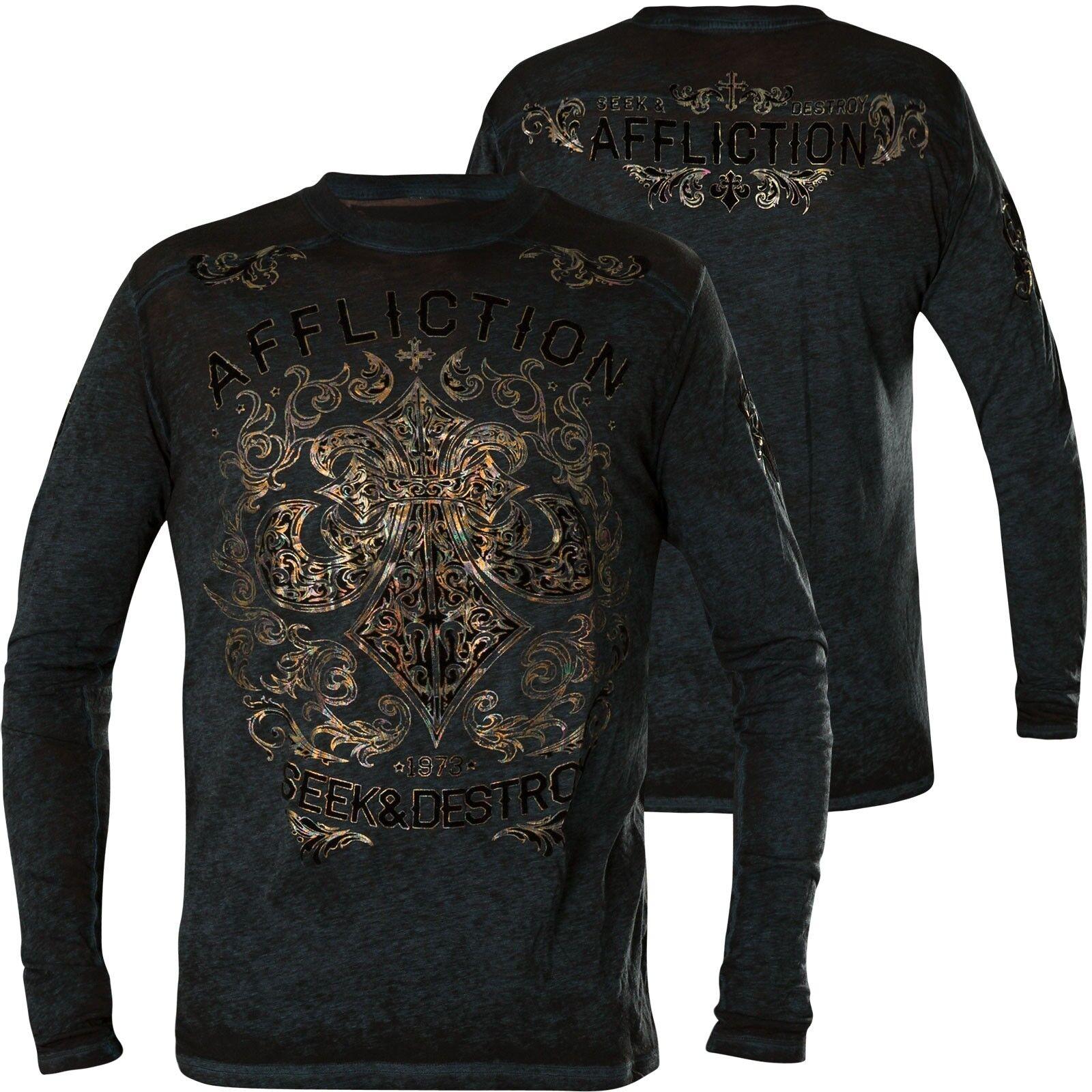 AFFLICTION Pullover Signify Schwarz/Blau Sweatshirts
