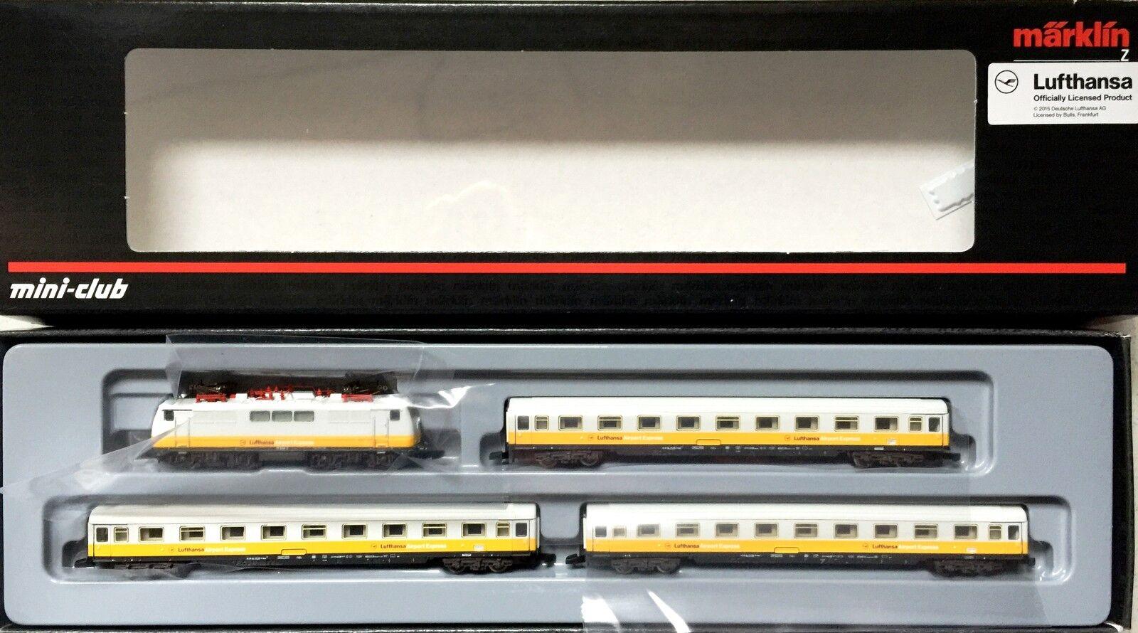 scala Z 81551 LUFTHANSA SET treni con E-Lok CARRI CONFEZIONE ORIGINALE