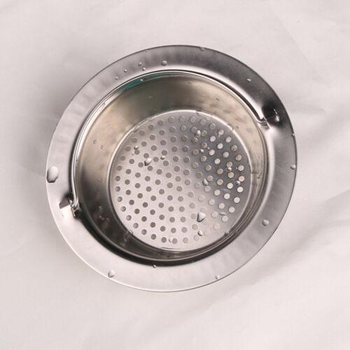 JW/_ Kitchen Metal Sewer Sink Strainer Drain Waste Anti-clog Handled Filter Acc