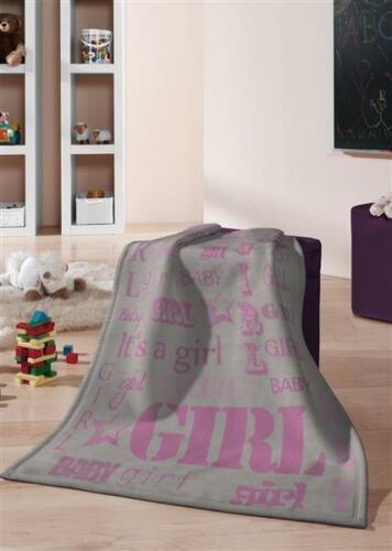 Biederlack Jacquard couverture couverture couverture plaid 75 x100 cm Kids Cotton Girl