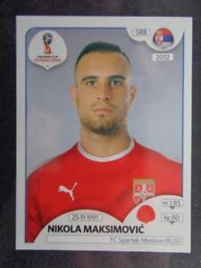 Nikola Maksimovic Sticker 420 Serbien Panini WM 2018 World Cup Russia