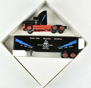 Winross-1991-Fenn-Fair-Security-Services-Semi-Truck-and-Trailer-1-64-Scale-NIB