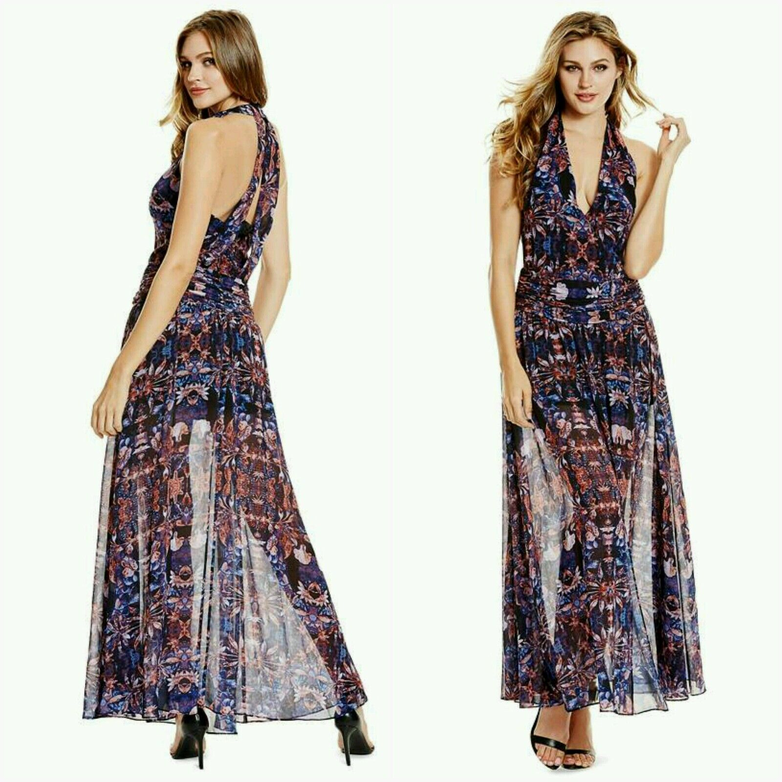 NWT GUESS BY MARCIANO Rhapsody Maxi Dress SIZE S