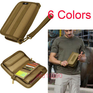 Tactical-Military-Sports-Men-039-s-Wallet-HandBag-for-6-034-Cell-Phone-money-card-Pouch