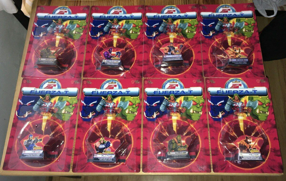 Motu Master of the universe Fuerza T Top Toys repro card, blister, bubble, lot