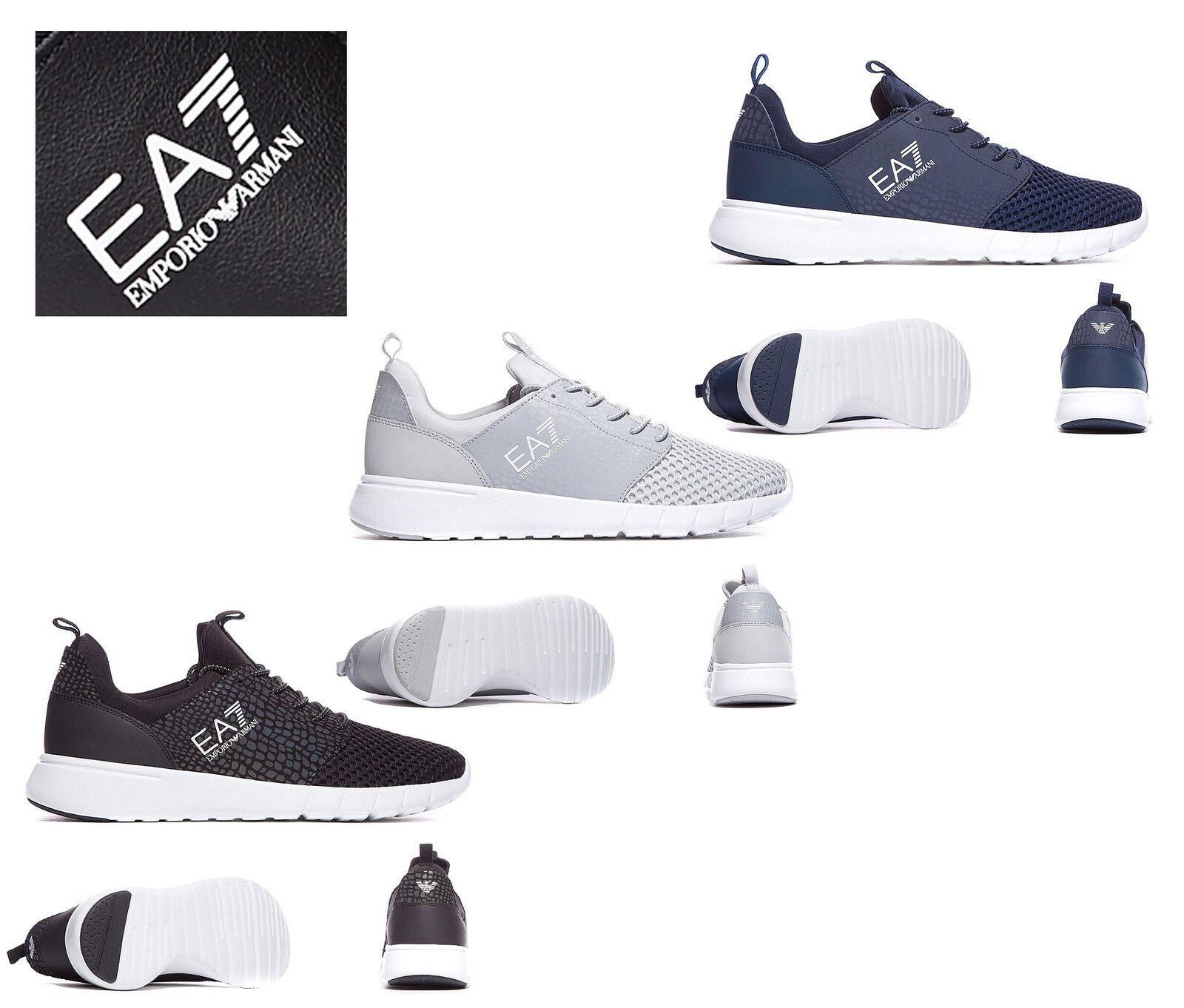 EA7 EMPORIO ARMANI Schuhe MENS BOYS NEU RACER MESH ULTRA B TRAINERS 100% ORIGINAL