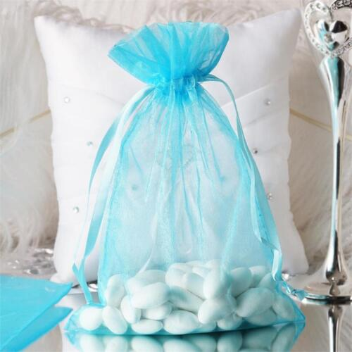 """10 pcs 6x9/"""" Turquoise ORGANZA FAVOR BAGS Wedding Party Reception Gift Favors"""