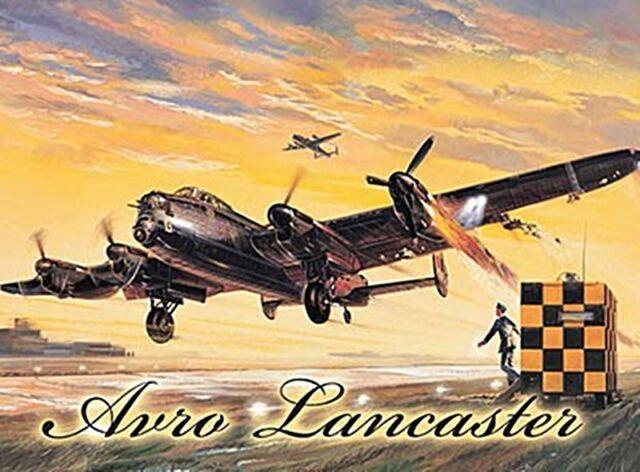 og Lancaster Bomber large steel sign 400mm x 300mm