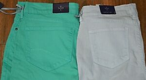 NYDJ CLARISSA  Ankle Denim Jeans Choice Gray 6P Aqua 16P Multi 18P Orange 0
