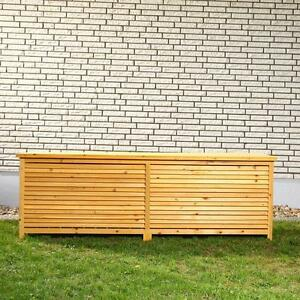Baule cassapanca box in legno per esterno giardino xxl 170x50x58cm ebay - Cassapanche in legno per esterno ...