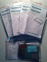 5-pack Nortel Norstar Meridian M7000 Lit Button Packs M7208 M7310 M7324