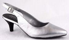 Andrea Conti Schuhe Sommer High Heels Pumps Echt Leder Gr.39 Silber 2749