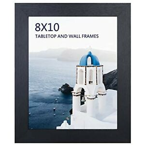 8x10 Black Picture Frame, Photo Frames for Wall Tabletop Display, Ready to Hang,