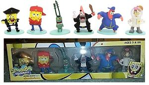 Set-lotto-6-pupazzi-SpongeBob-SquarePants-mini-figure-collection-serie-2