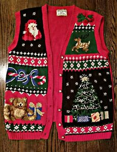 90s Christmas Sweaters.Details About Vintage Retro 90s Ugly Christmas Sweater