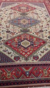 Analytisch Echter Handgeknüpfter Orient Teppich