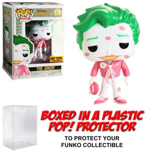 DC Heroes ~ il JOKER Figura Con Pop Protettore Funko Pop Rosa ARDENTE