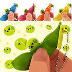 New Novel Stress Relieve Toys Bean Edamame Soybean Extrusion Pea Beans Keychain