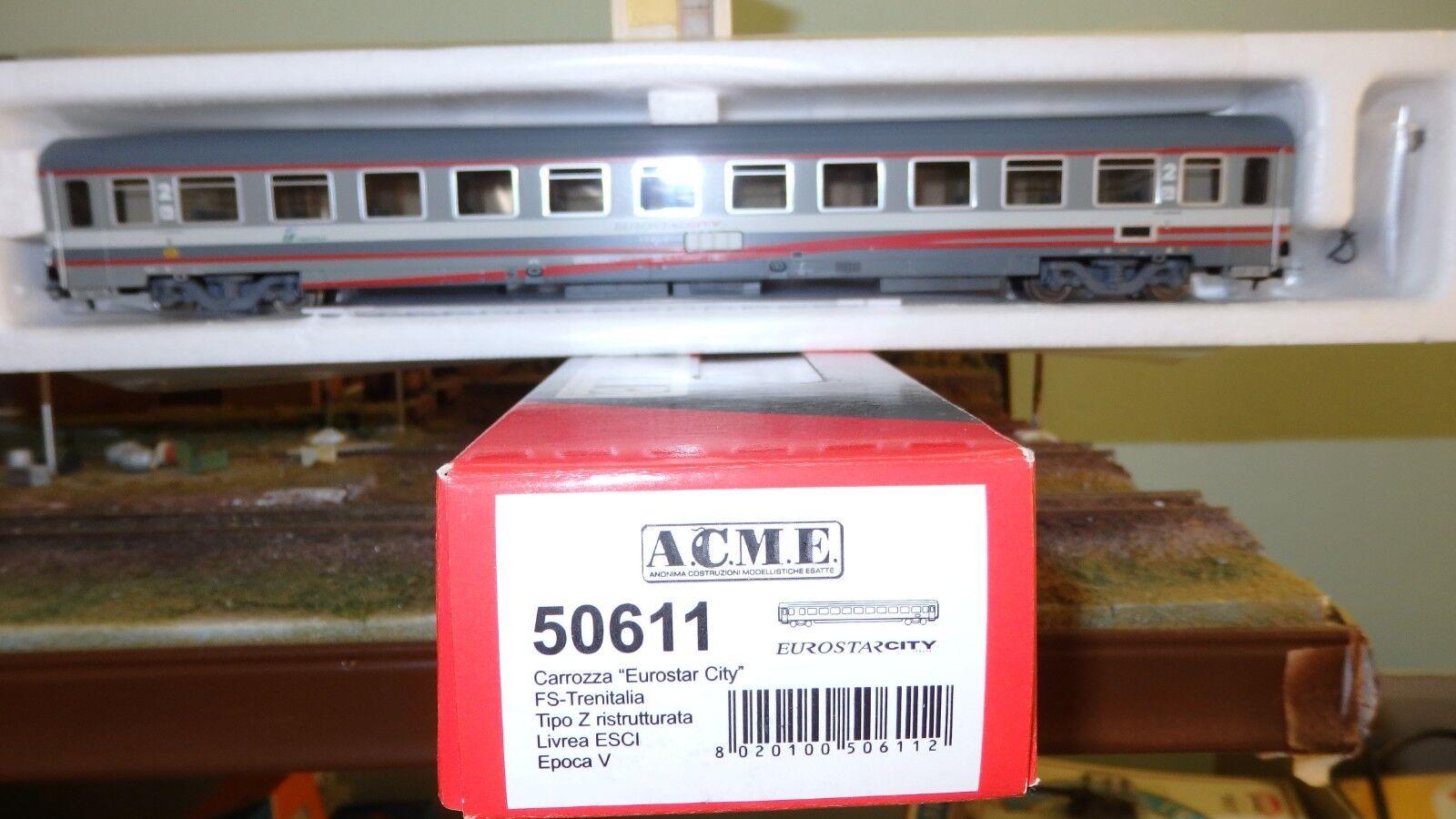 ACME 50611 Carrozza tipo Z 2a classe EuroStar City Italia, livrea bigrigia  FS