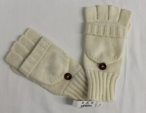 11c80568f08 Image is loading J-CREW-FACTORY-BUTTON-GLITTENS-GLOVES-ANTIQUE-WHITE-